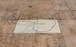 Mapa de Carthage Fotos de Stock Royalty Free
