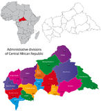 Mapa de Central African Republic Fotos de Stock Royalty Free