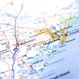Mapa de Charleston Imagen de archivo
