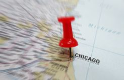 Mapa de Chicago fotos de stock