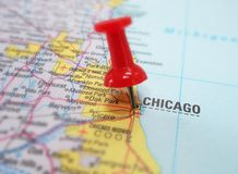 Mapa de Chicago Fotografia de Stock