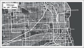 Mapa de Chicago Illinois los E.E.U.U. en estilo retro Foto de archivo