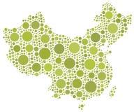 Mapa de China Fotografia de Stock Royalty Free