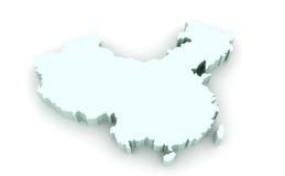Mapa de China Foto de Stock Royalty Free