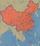Mapa de China Foto de Stock