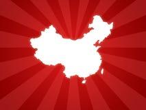 Mapa de China Fotos de Stock Royalty Free