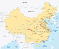 Mapa de China Imagem de Stock Royalty Free