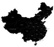 Mapa de China Foto de Stock Royalty Free