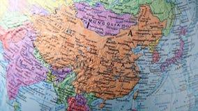 Mapa de China com movimento video estoque