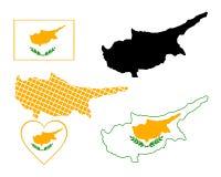 Mapa de Chipre Fotografia de Stock