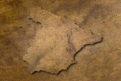 Mapa de cobre da textura de Spain Foto de Stock Royalty Free