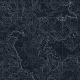 Mapa de color con la línea contorno para caminar Ejemplo topográfico geográfico del vector libre illustration