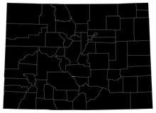 Mapa de Colorado, los E.E.U.U., país, silueta Imágenes de archivo libres de regalías