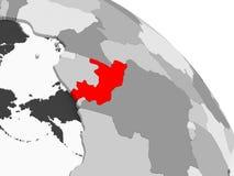 Mapa de Congo stock de ilustración