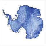 Mapa de Continente antárctico E ilustração do vetor