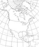 Mapa de contorno de America do Norte fotos de stock
