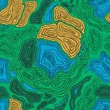 Mapa de contorno topográfico colorido inconsútil Fotografía de archivo
