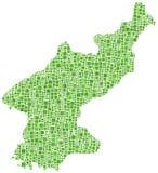 Mapa de Coreia norte Fotografia de Stock