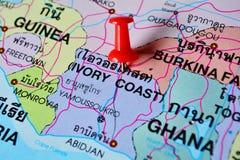 Mapa de Costa de Marfil foto de archivo libre de regalías