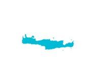 Mapa de Creta Imagen de archivo libre de regalías