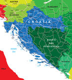 Mapa de Croacia Fotos de archivo