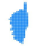 Mapa de Córsega Imagem de Stock Royalty Free