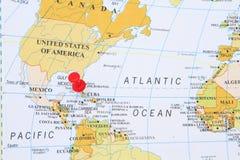 Mapa de Cuba imagenes de archivo