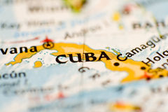 Mapa de Cuba Imagem de Stock Royalty Free