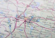 Mapa de Dallas Fotografia de Stock Royalty Free