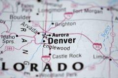Mapa de Denver Foto de Stock