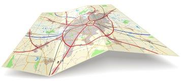 Mapa de dobradura Imagem de Stock