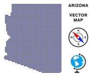 Mapa de Dot Arizona State libre illustration