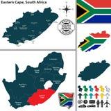 Mapa de Eastern Cape, Suráfrica ilustración del vector