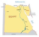Mapa de Egipto ilustração royalty free