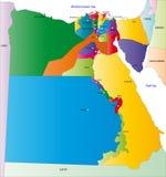 Mapa de Egipto ilustração do vetor