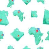 Mapa de Egito em um teste padrão sem emenda ilustração stock