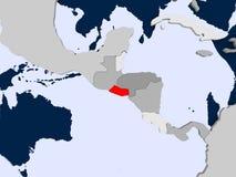 Mapa de El Salvador Fotografia de Stock Royalty Free