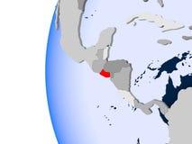 Mapa de El Salvador no globo político Fotografia de Stock Royalty Free
