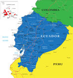 Mapa de Equador Ilustração Stock