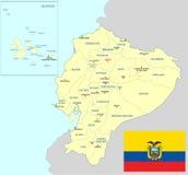 Mapa de Equador ilustração royalty free