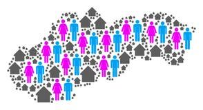 Mapa de Eslovaquia del Demographics libre illustration
