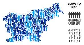 Mapa de Eslovenia del Demographics stock de ilustración