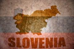 Mapa de Eslovenia del vintage Fotos de archivo libres de regalías