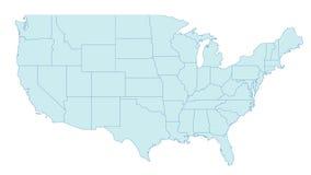 Mapa de Estados Unidos ilustração royalty free