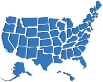 Mapa de Estados Unidos 3D Imagens de Stock Royalty Free