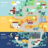 Mapa de estradas bonito da cidade Fotografia de Stock Royalty Free