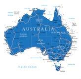 Mapa de estradas de Austrália Foto de Stock Royalty Free