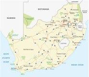 Mapa de estradas de África do Sul Imagens de Stock