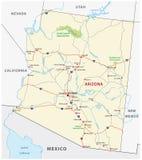 Mapa de estradas do Arizona ilustração royalty free