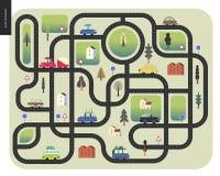 Mapa de estradas urbano ilustração stock